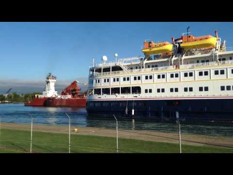 Great Lakes Cruise Ship and Freighter