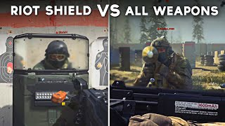 All Weapon Attacks on Riot Shield - Call of Duty: Modern Warfare (All Weapon Types vs Shield)