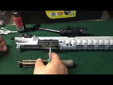 Disassembly and cleaning of AR 15 rifle
