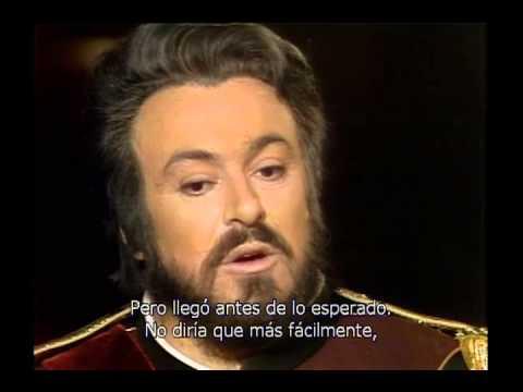 Luciano Pavarotti interview - Un Ballo in Maschera 1980
