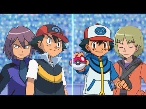 Pokemon Battle USUM: Sinnoh Ash And Paul Vs Unova Ash And Trip (Sinnoh Vs Unova)