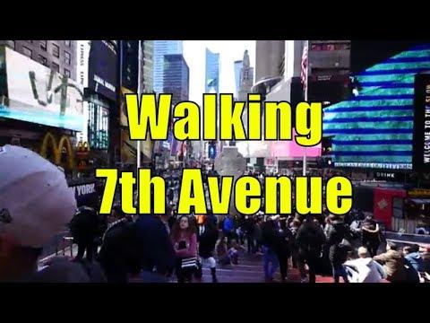 ⁴ᴷ Walking Tour of Midtown, Chelsea, & Greenwich Village, Manhattan, NYC - 7th Avenue