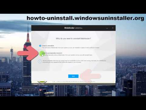 Uninstall BitDefender Total Security 2015 within Minutes