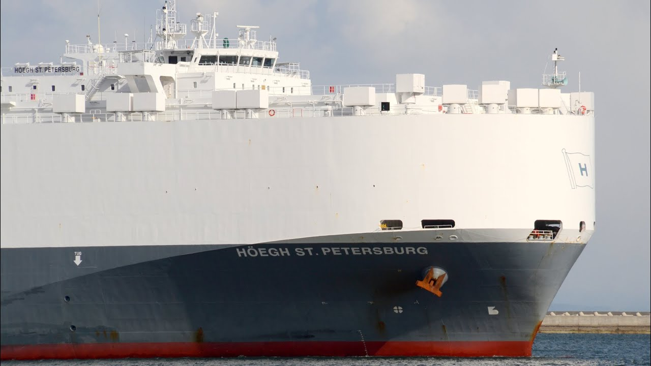 hoegh st petersburg hoegh autoliners car carrier 2013 youtube