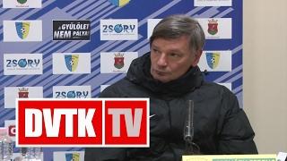 Horváth Ferenc értékelése   Mezőkövesd - DVTK   2017. február 18.   DVTK TV