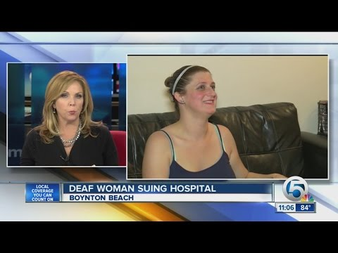 Deaf woman suing hospital