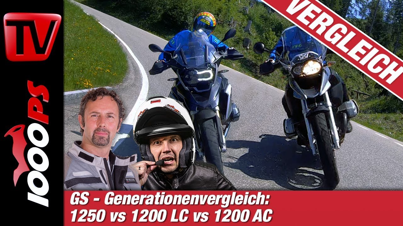 BMW GS Vergleich - Alt gegen neu - R 1250 GS vs 1200 LC vs 1200 AC - Generationenvergleich