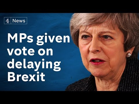 May offers MPs chance to delay Brexit