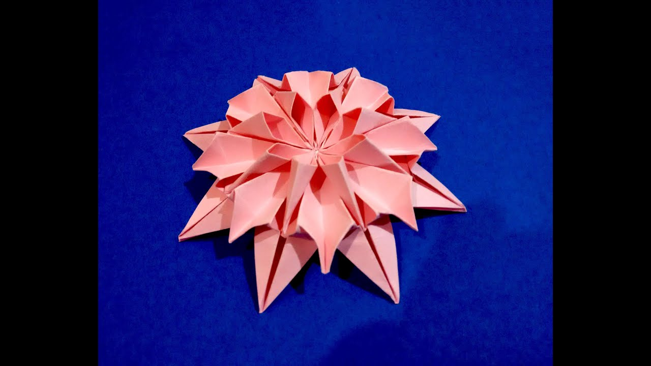 Origami Flower Dahlia Easy To Do And Rich Ideas For Christmas Decoration
