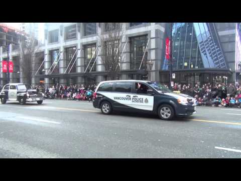 Emergency Services in Vancouver Santa Claus Parade 2013