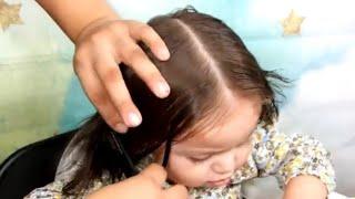 للشعر القصير والخفيف👧عملت أسهل وأجمل تسريحه شعر للبنات الصغار👍