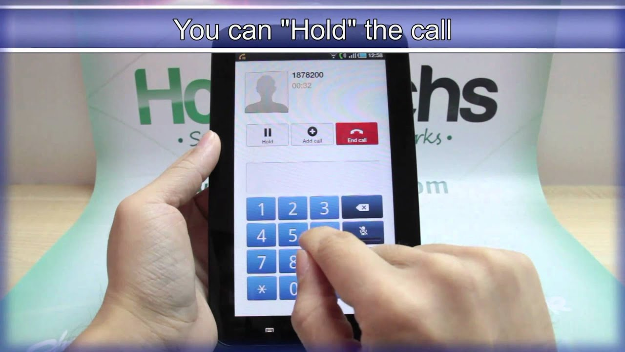 How to Make phone calls from the Samsung Galaxy Tab