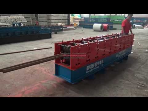 Round tube turns square tube roll forming machine