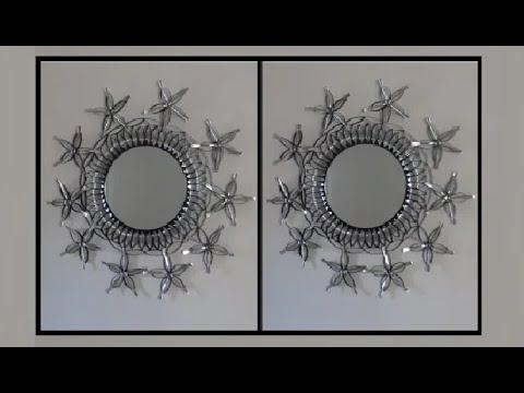 Plastic Spoons Mirror Wall Art Decor