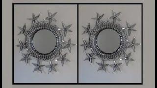 DIY: Plastic Spoons Mirror Wall Art Decor