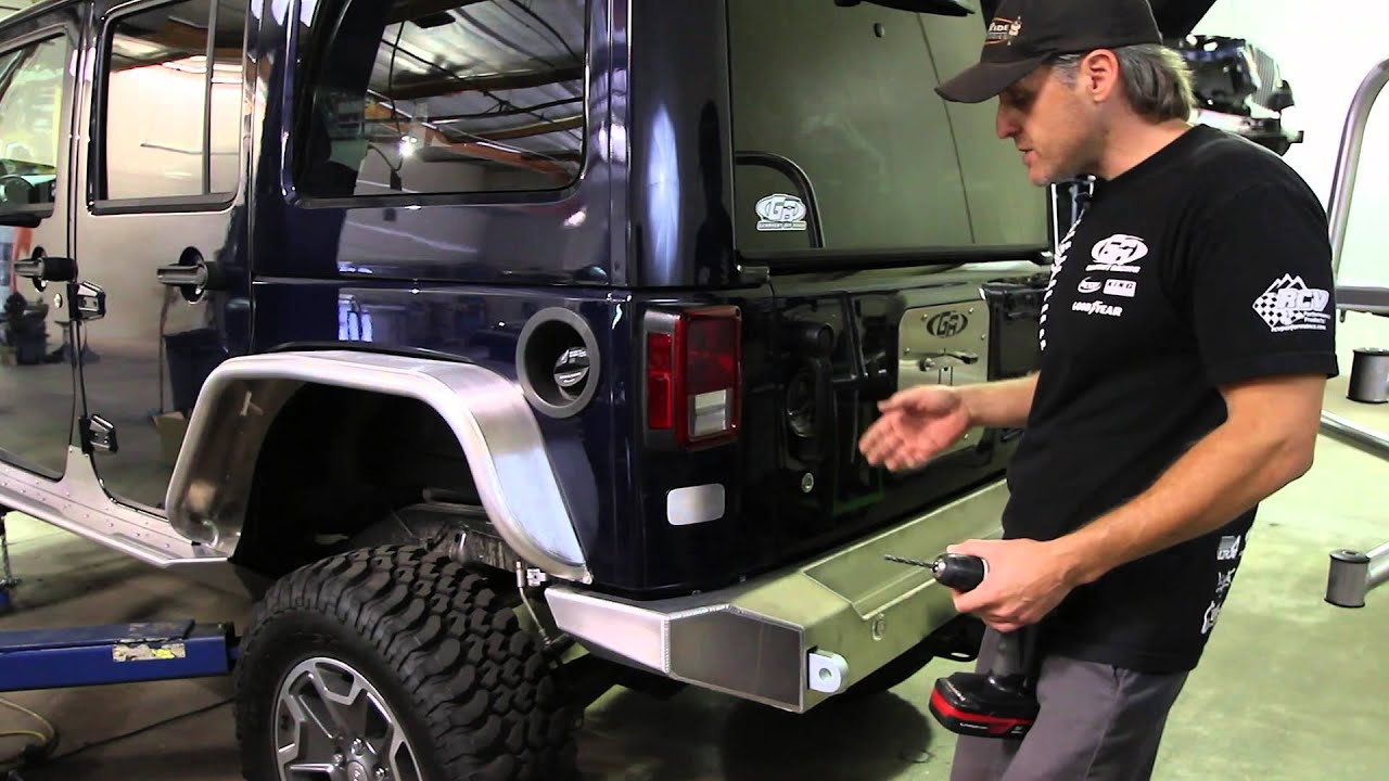 Genright Rear Tire Carrier Install Youtube