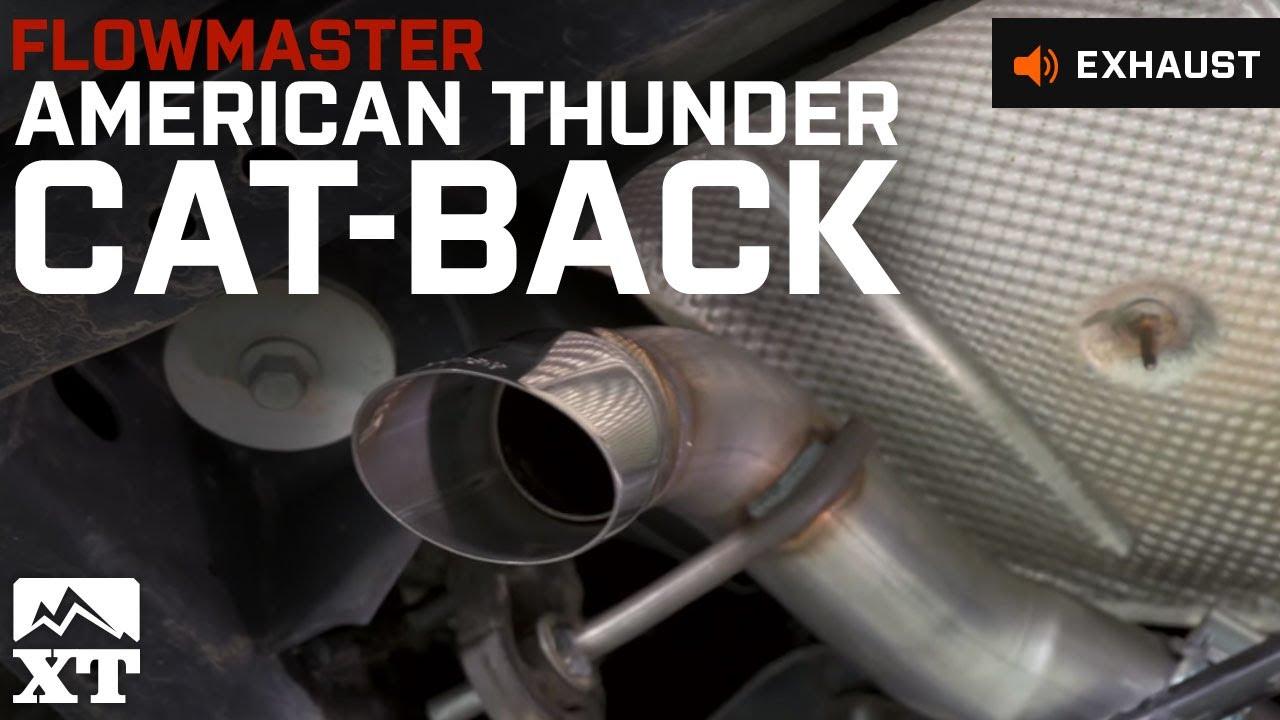 jeep wrangler flowmaster american thunder catback 2007 2016 jk exhaust sound clip install