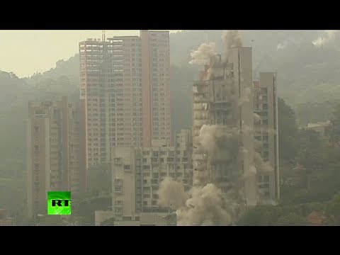 Controlled Collapse: Demolition of 20-story apartment block in Colombia
