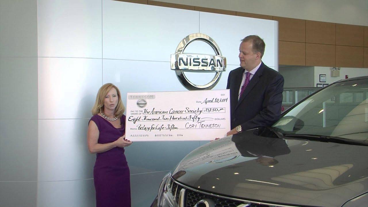 Wonderful Tenneson Nissan Cancer Donation 2014   YouTube