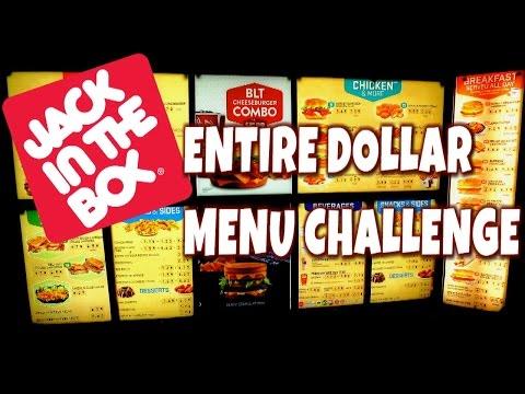 Jack in the Box Full Value Menu Challenge | FreakEating Classics