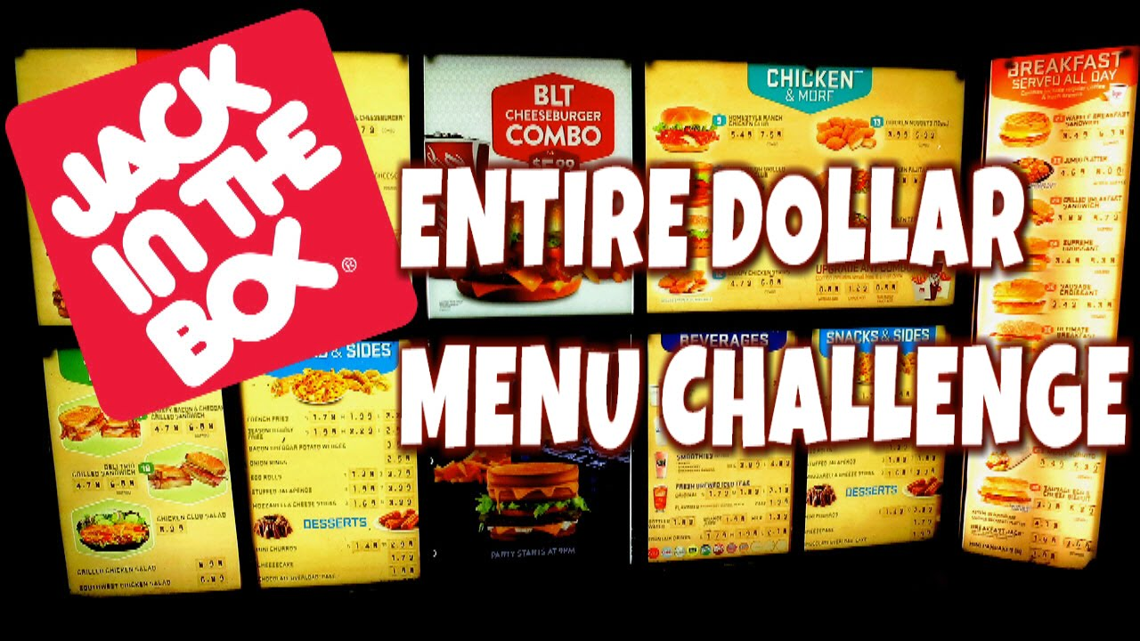 jack in the box full value menu challenge | freakeating classics