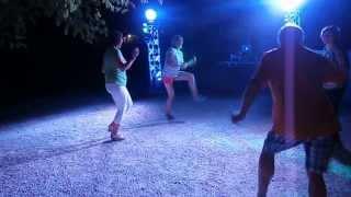 Fin de soirée disco au camping La Castillonderie à Thonac - Montignac