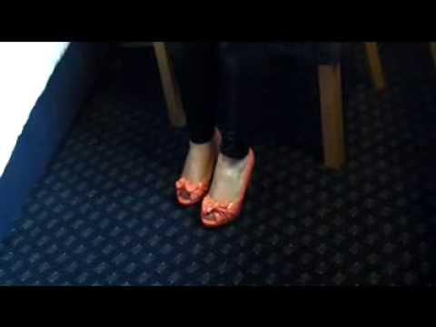 Coral Peep Toe High Heel Worship