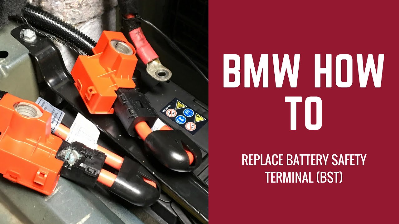 hight resolution of replace the bst cable in any bmw battery safety terminal