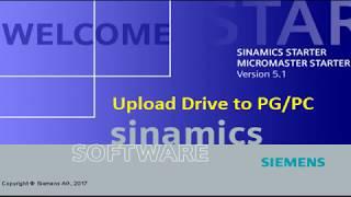 Upload G120/S120 Drive using Starter