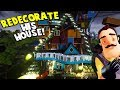 I RE-DECORATED THE NEIGHBOR'S HOUSE USING NOTHING BUT CARS | Hello Neighbor
