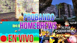Probando Homebrews de PSP en VIVO | HD | luigi2498
