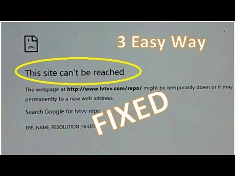 How To Fix The Site Can't Be Reached | 3 Easy Way