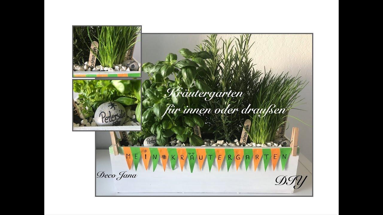 DIY: Mini Kräutergarten für drinnen oder draußen selbst gemacht / Deko Jana