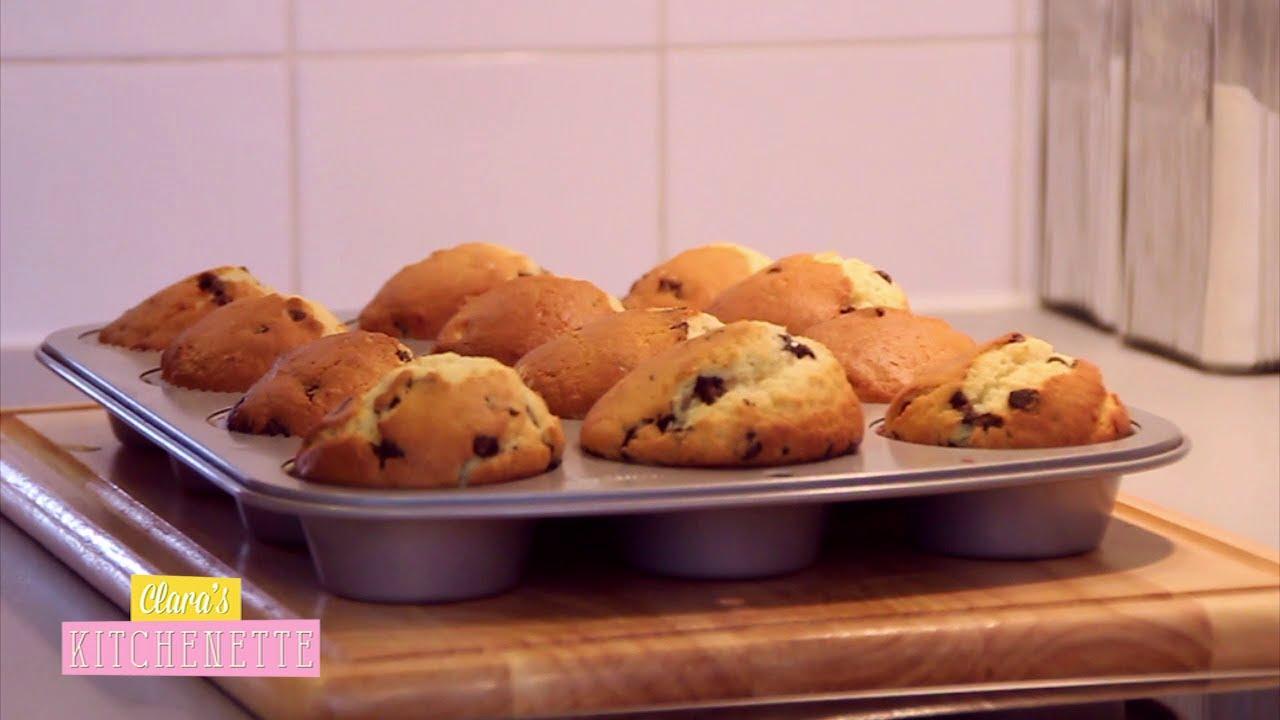 les muffins aux pepites de chocolat clara 39 s kitchenette. Black Bedroom Furniture Sets. Home Design Ideas