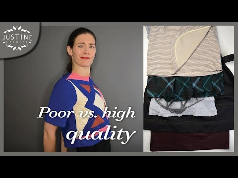 How to recognize poor vs. good quality in clothes (in 5 poin