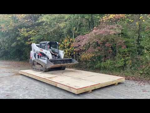 Watch a Bobcat Test The Prefab Shed Floor Strength!