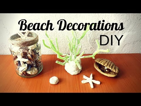 Beach Crafts For Kids | DIY Coastal Decor | Make Sea Creatures Starfish And Coral With Salt Dough