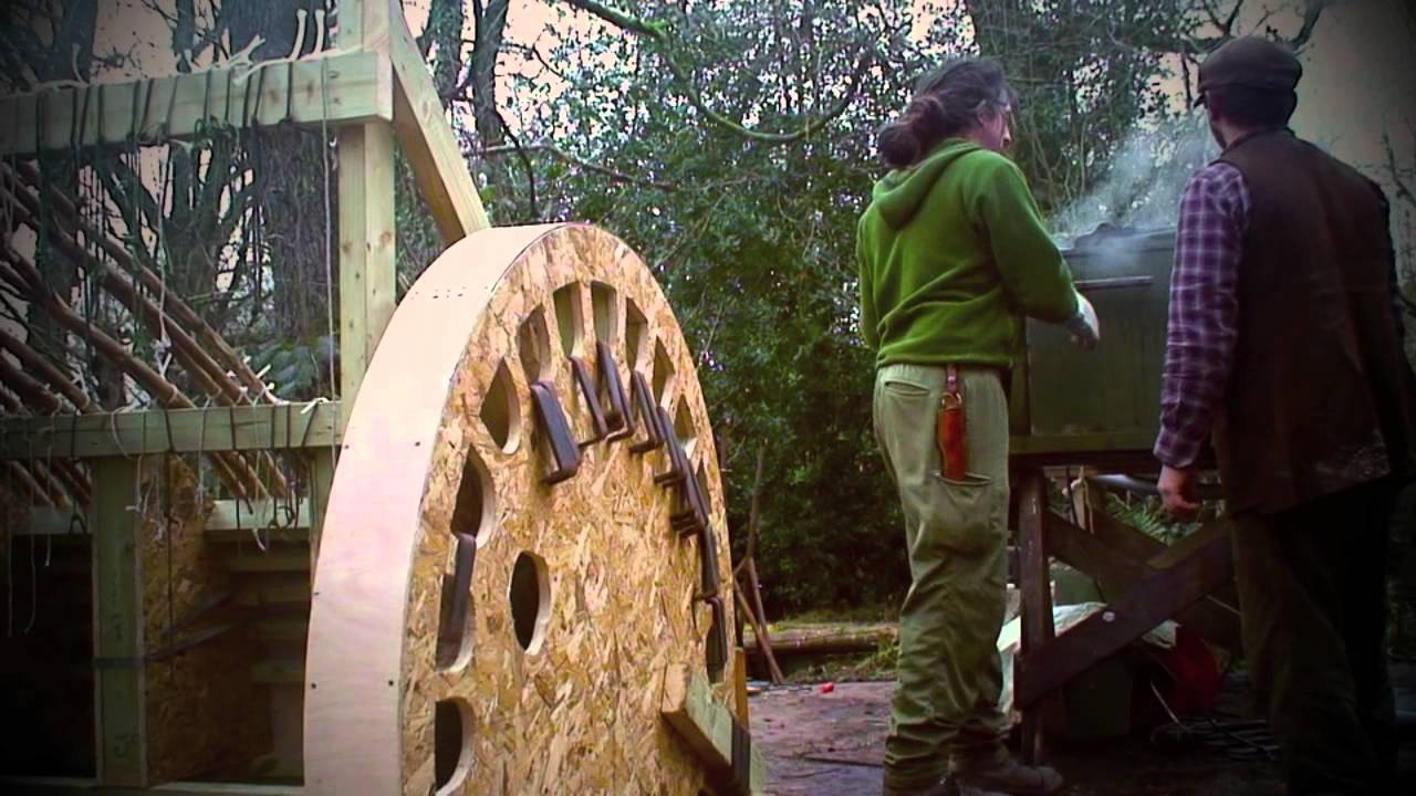 Steam Bending Wood Oak Yurt Wheel Youtube
