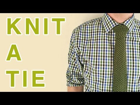 How To Knit A Tie Knitting Gift Idea For Fathers Day Youtube