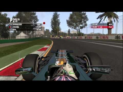 F1 2011 HD Xbox 360 career Melbourne Grand Prix