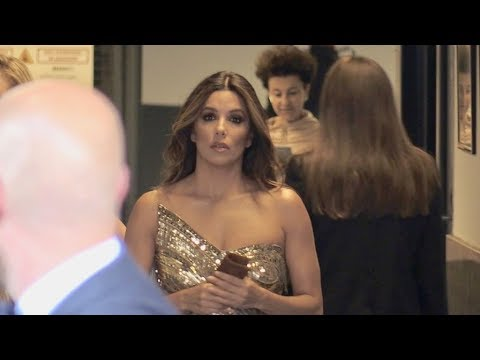 EXCLUSIVE : Eva Longoria coming out from the back door of the palais in Cannes