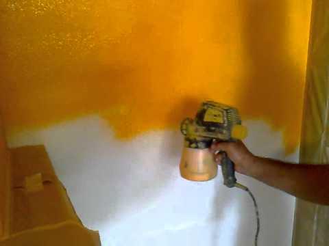 Pistola de pintura de paredes youtube - Pinturas de paredes ...