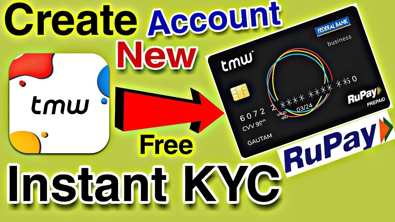 How to Create Tmw wallet Rupay Virtual Card Account with Instant KYC Live  Proof || TMW Debit Card🔥
