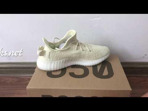 80e1d94fa Adidas Yeezy Boost 350 V2 Beige Yellow Translucent review From Fanskicks.net