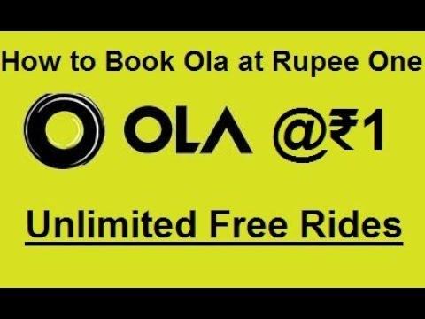 Book Ola Cabs @ ₹1   Unlimited Free Ola cab Rides   Enjoy free ola cab  rides