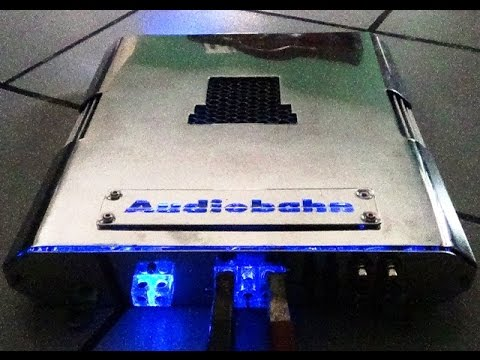 amp Audiobahn A8000T @ 2 ohms / 2 12s pioneer / bass procesor ...