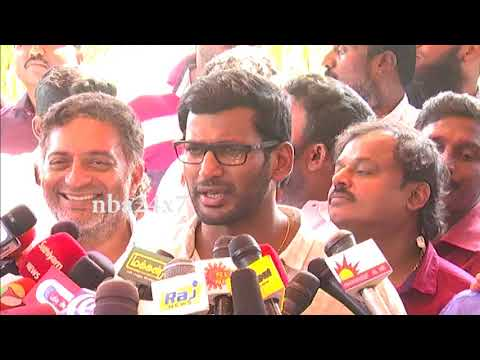 Vishal says whoever threatened him was recorded | Actor Vishal in Producer Council | nba 24x7