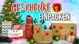 GESCHENKE SCHÖN VERPACKEN 🆘 Weihnachtsgeschenke verpacken DIY + Hacks
