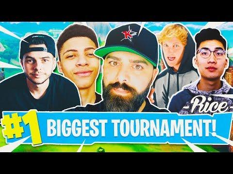 Fortnite YouTubers TOURNAMENT! (Myth, Logan Paul, Ricegum, FaZe Banks & MORE)