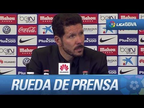 Rueda de prensa de Simeone tras el Atlético de Madrid (1-0) Sporting de Gijón